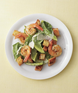 Shrimp Caesar With Homemade Croutons