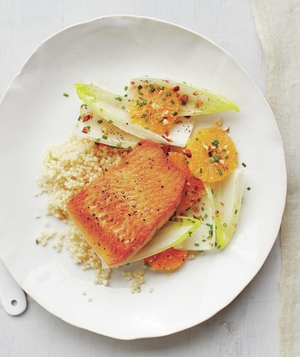 Arctic Char With Couscous and Citrus Salad