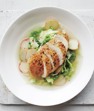 Seared Chicken Breast With Spring Vegetables