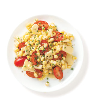 Corn Salad With Cheddar and Tomato