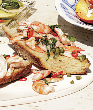 Herb-and-Chili Shrimp Toasts
