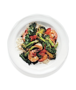 Shrimp, Bacon, and Broccoli Stir-Fry
