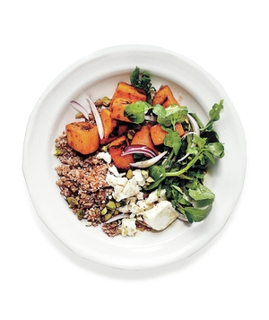 Roasted Sweet Potato and Bulgur Salad