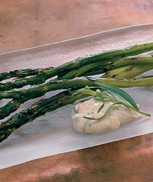 Grilled Asparagus With Orange Dipping Sauce