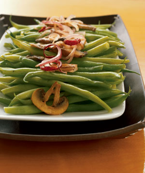 Sauteed Green Beans With Wild Mushrooms