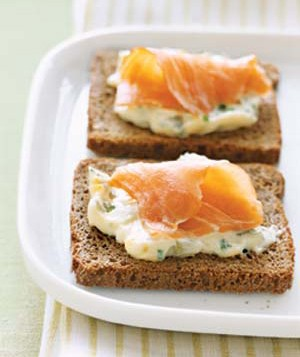 Smoked Salmon and Egg Canapes
