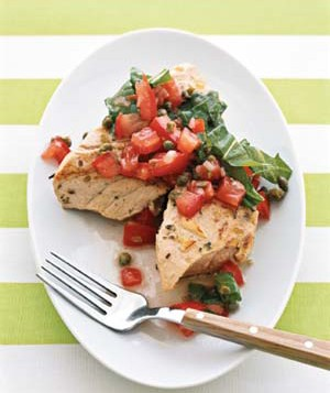Grilled Tuna With Tomato Salsa