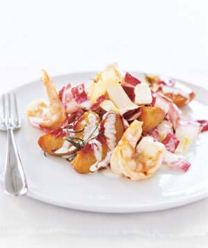 Roasted Peach and Shrimp Salad