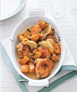 Maple-Roasted Chicken With Sweet Potatoes