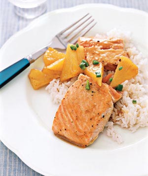 Maple-Glazed Salmon With Pineapple