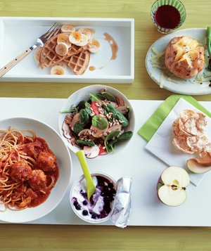 Variety of simple dishes
