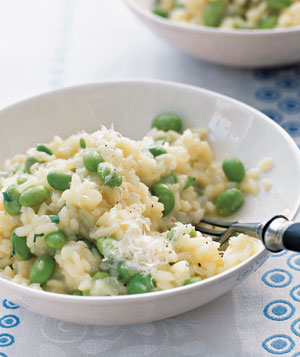 Risotto With Edamame, Lemon Zest, and Tarragon