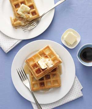 Waffles on a plate