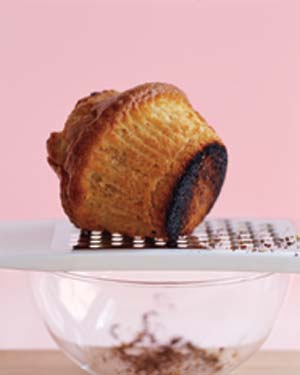 Burned cupcake with grater