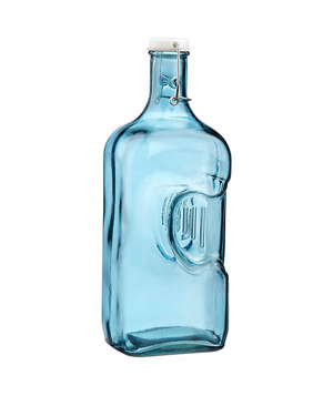 Recycled Blue Glass Jug