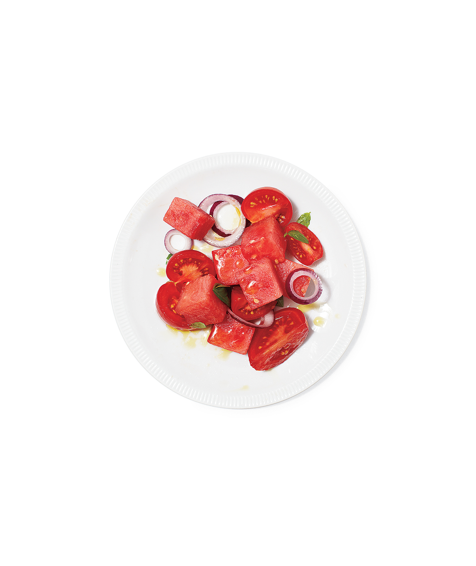 Marinated Watermelon and Tomato Salad