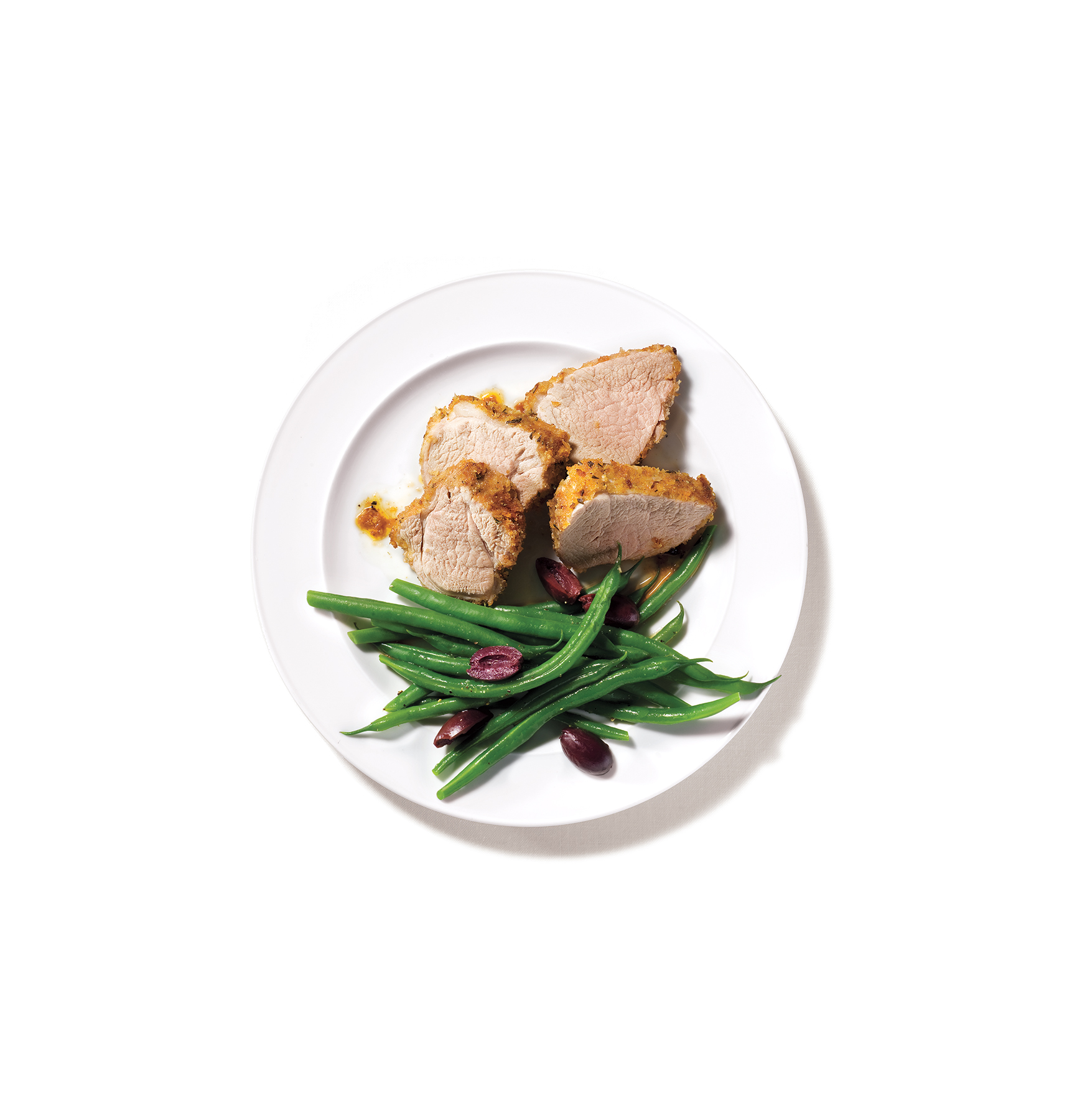 Rosemary-crusted pork