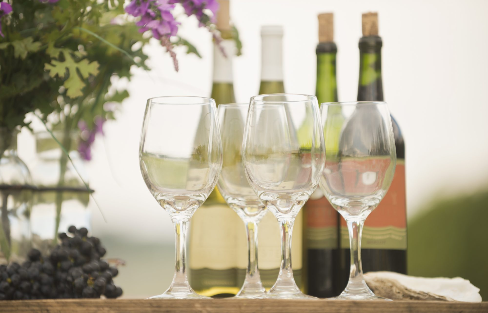 variety of wines for virtual wine tasting events