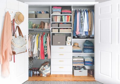 How To Organize A Closet Beautiful With Scarves Bag Shoes