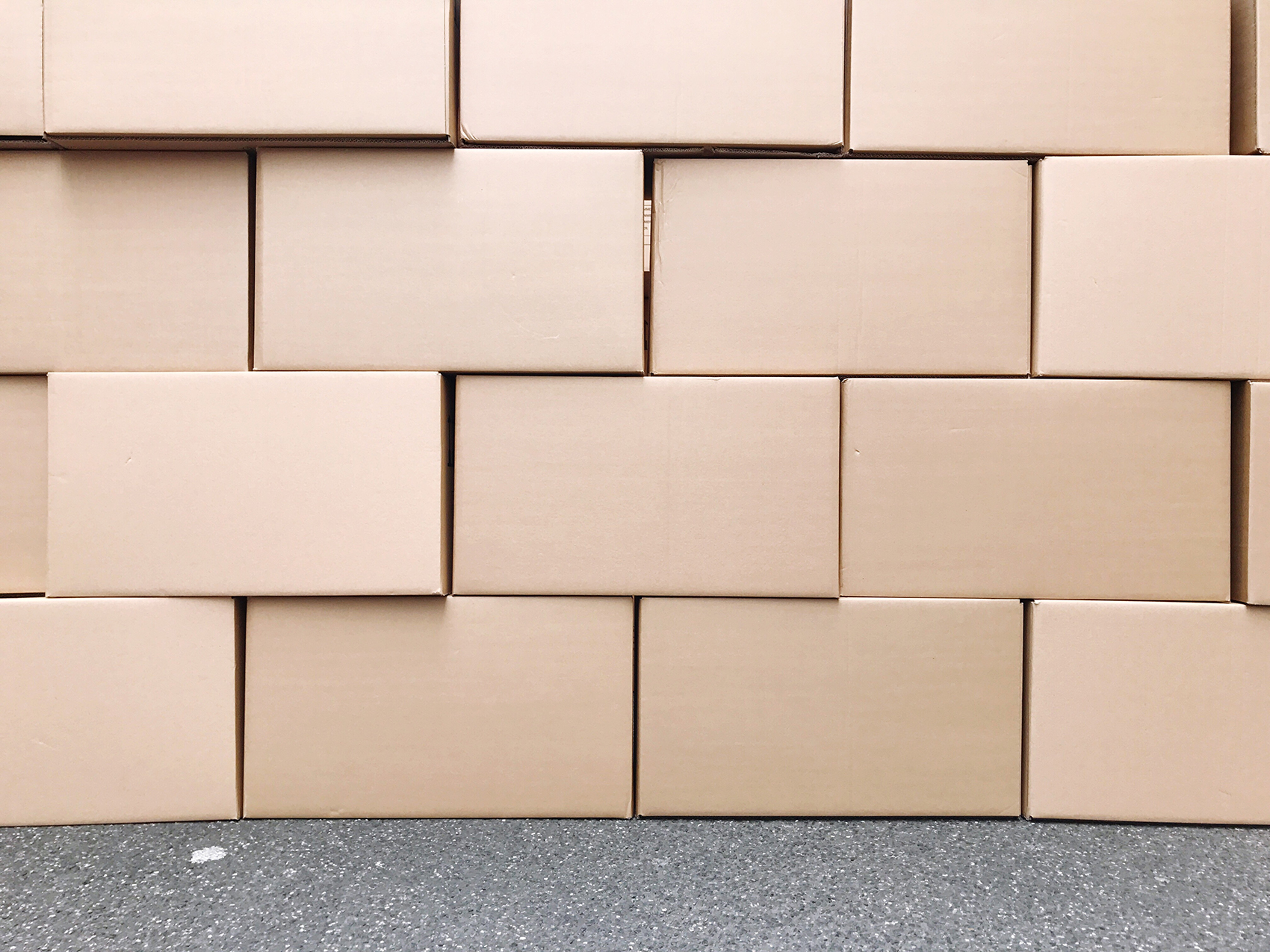 stack of brown boxes decluttering solutions