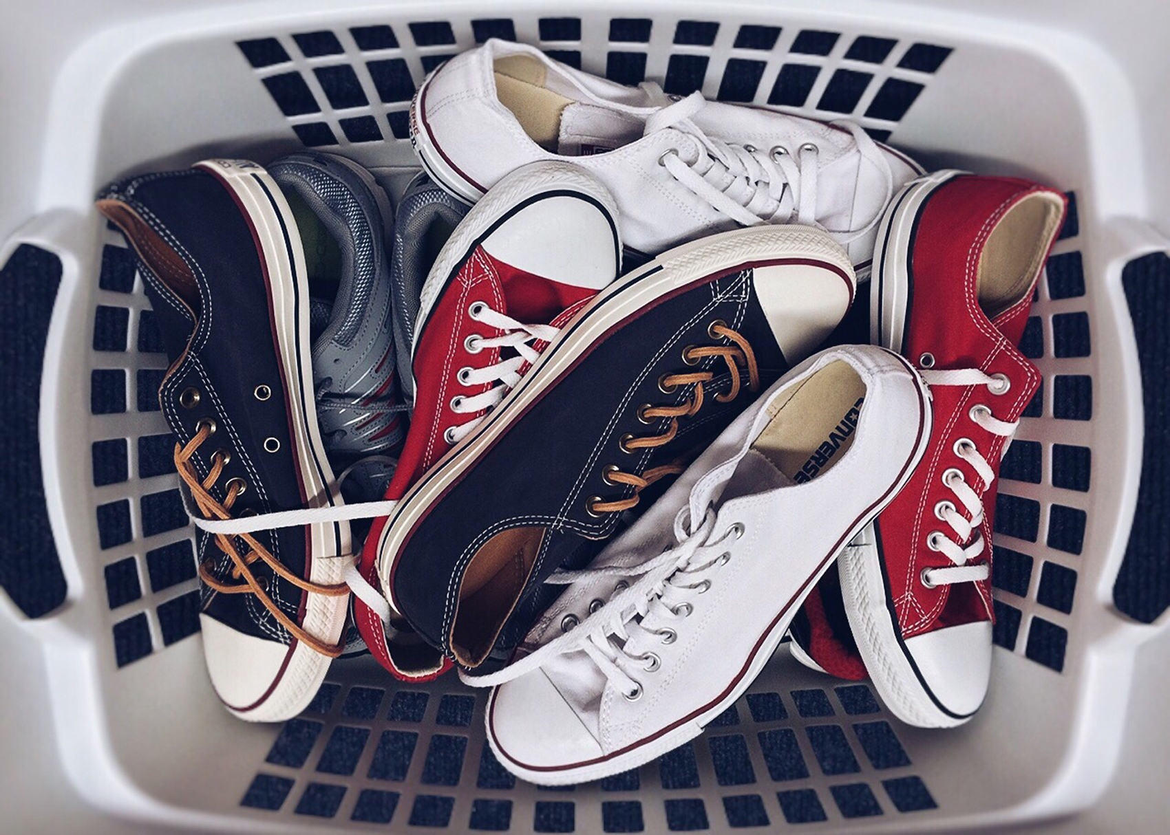 laundry basket shoes converse decluttering solutions