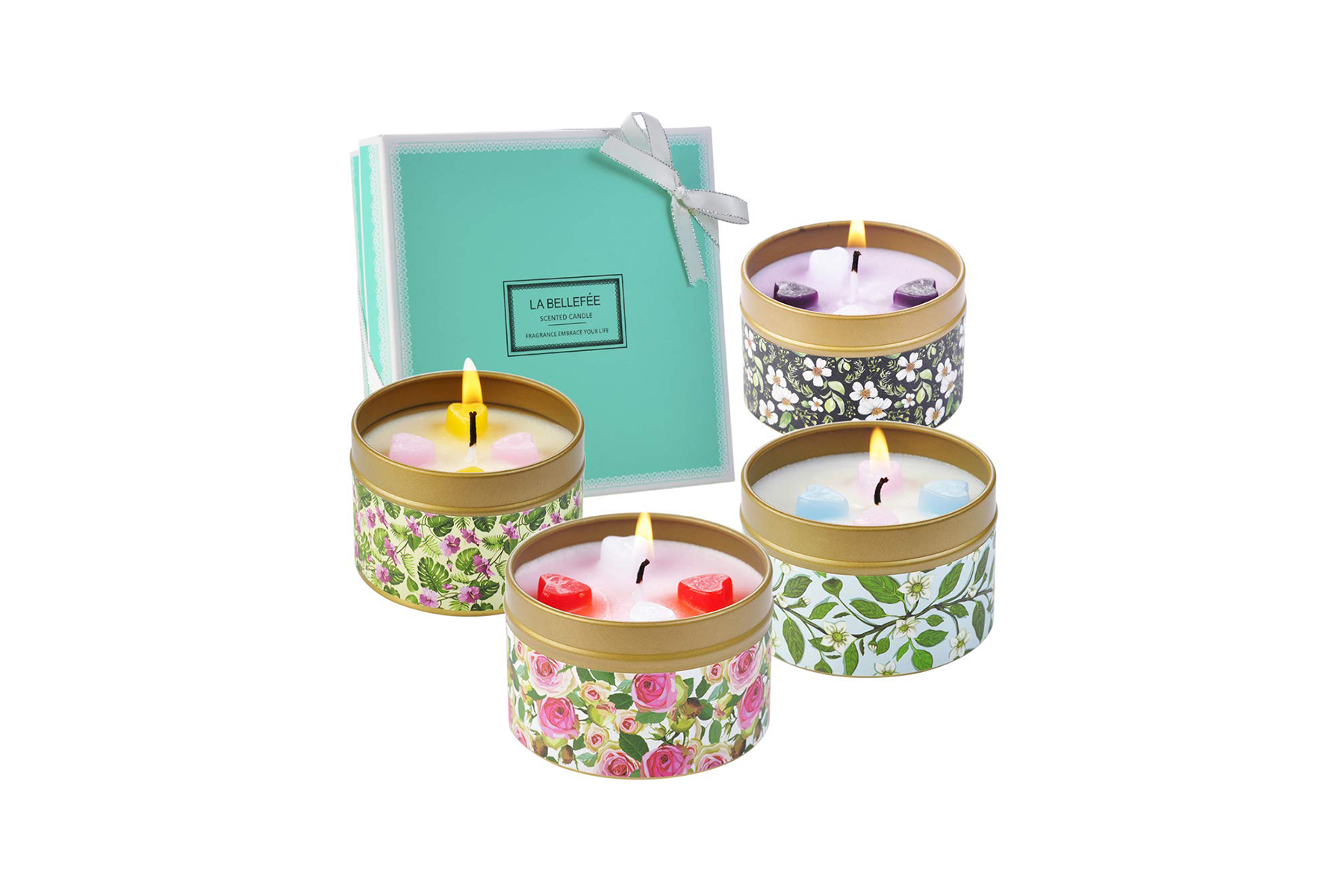 Scented Candles in Printed Tins for Easter