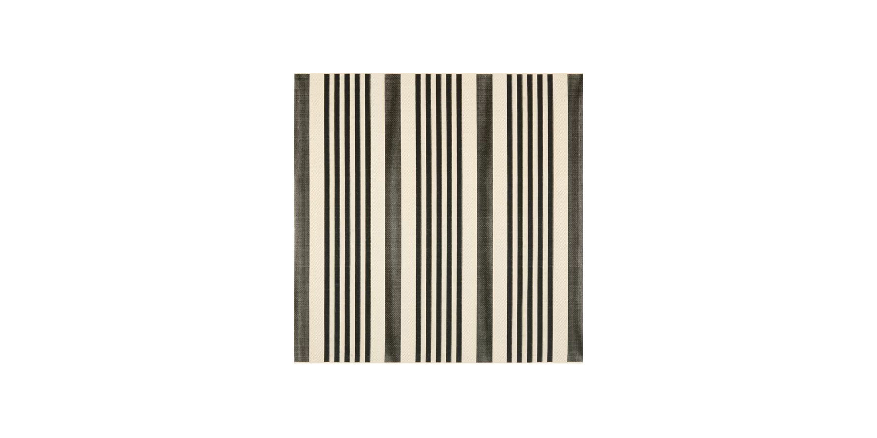 Best Square Option: Andover Mills Faye Black Outdoor Rug