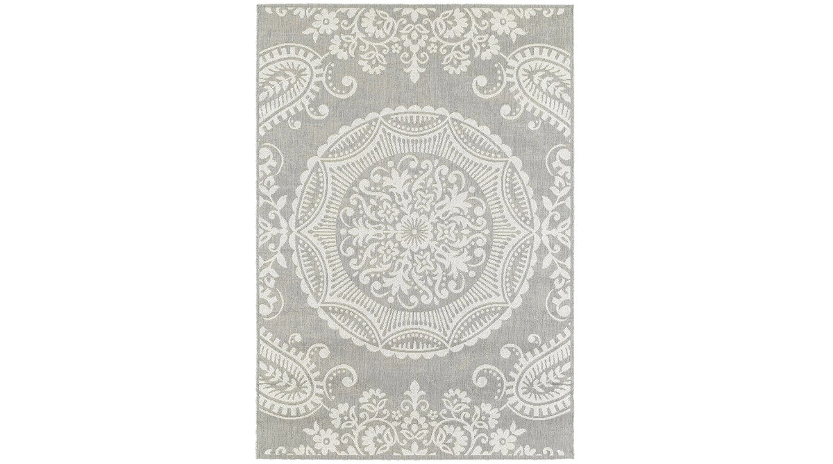 Bungalow Rose Gee Light Gray Area Rug