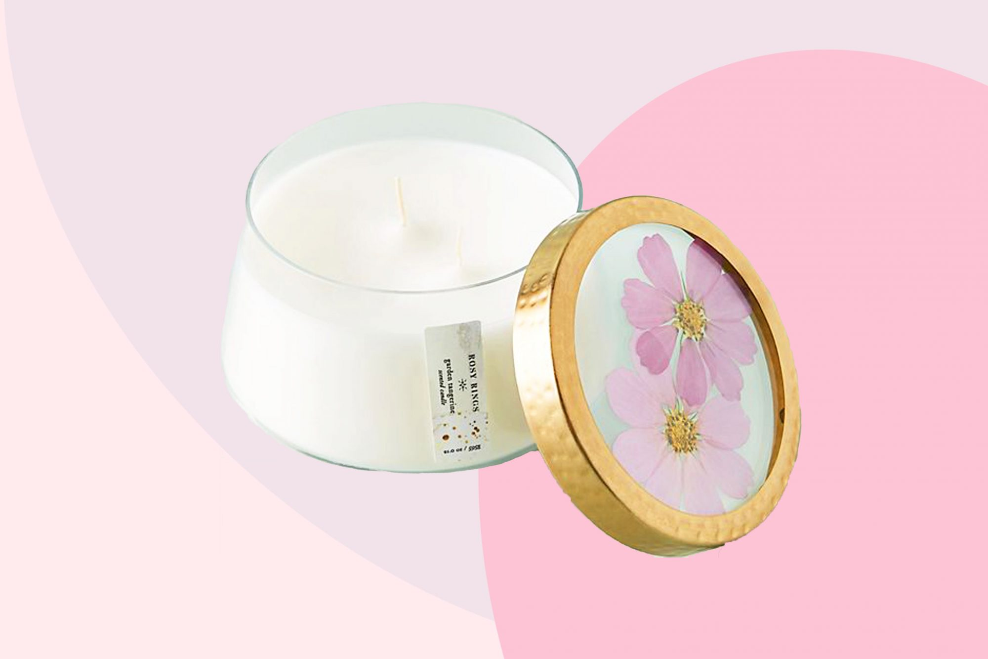 Rosy Rings Floral Press Candle Tout