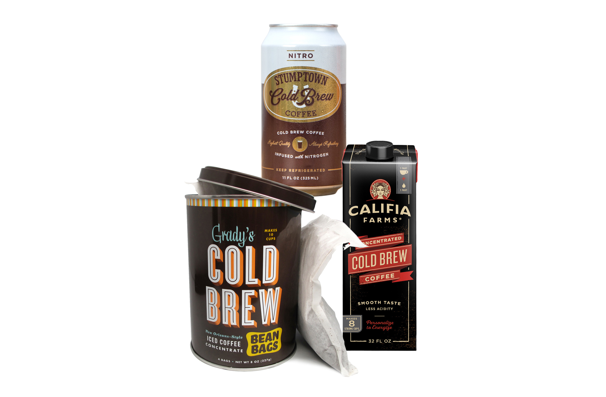3 cold brew coffees