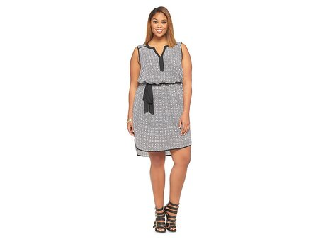 e7bfafc6e1e6 Ava   Viv Black-and-White Short Dress