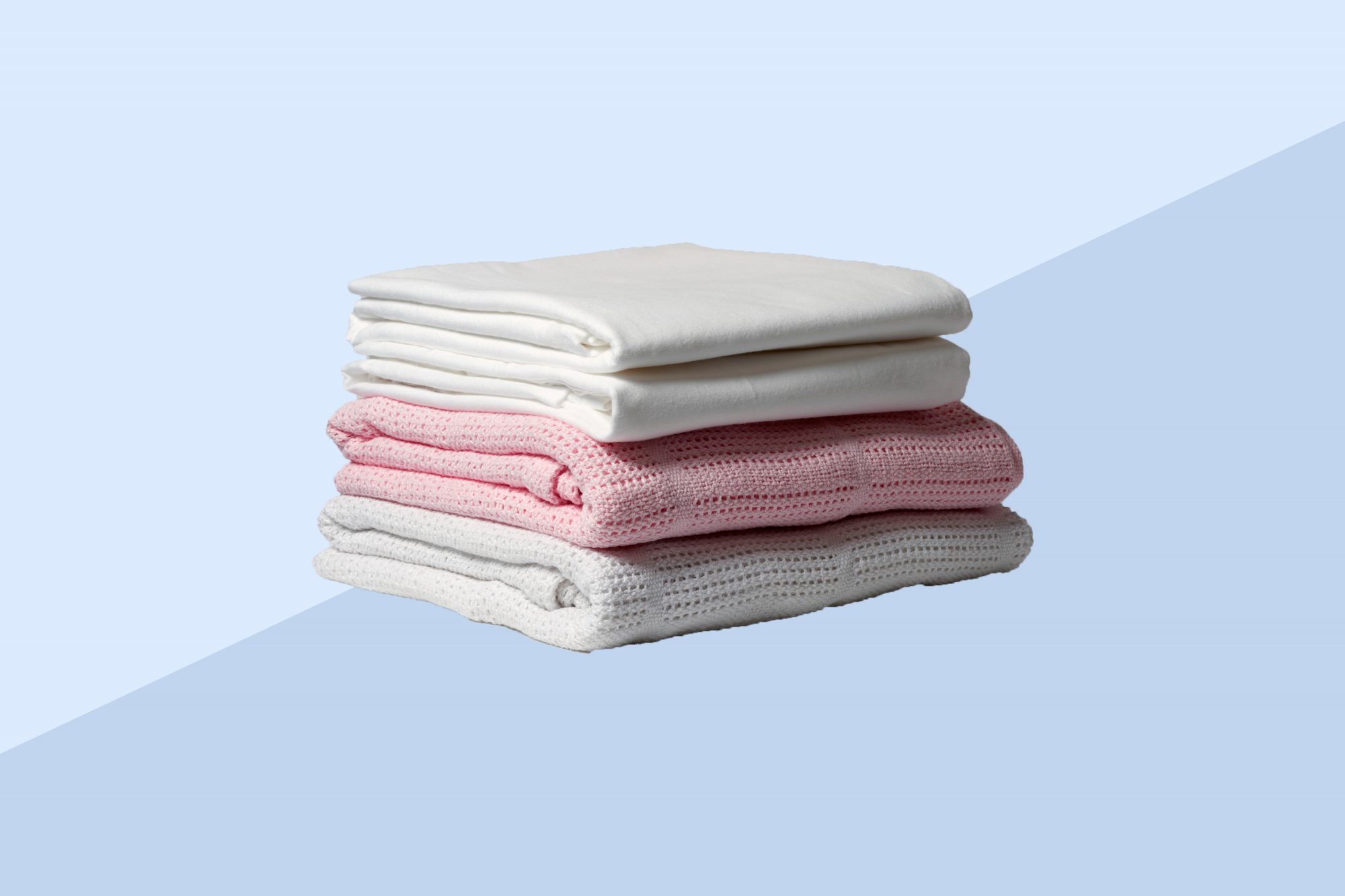 Stack of spare bed sheets
