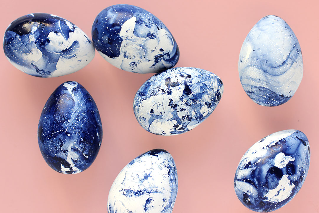 Easter egg designs: Cool, unique, and creative Easter egg designs inspiration (marbled Easter eggs)