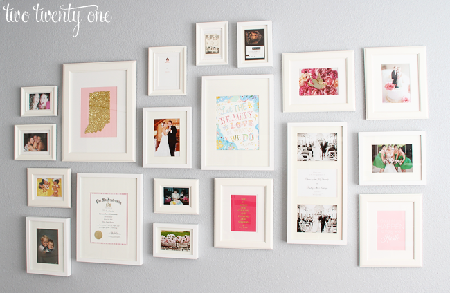 Living Room: Gallery Wall