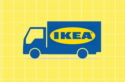 Ikea Delivery And Shipping Truck
