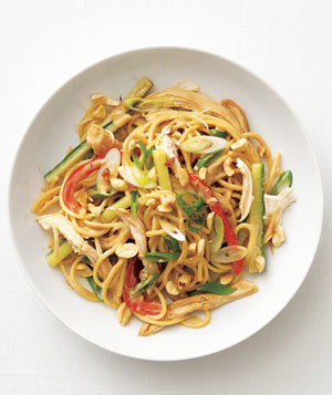 Gingery Peanut Noodles With Chicken