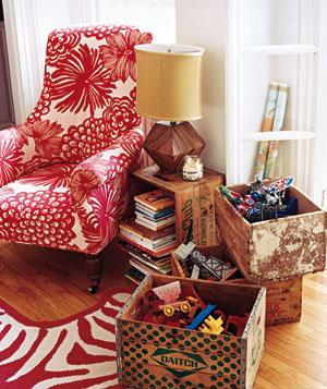 Crates to organize toys