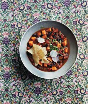 Slow-Cooker Vegetarian Chili With Sweet Potatoes