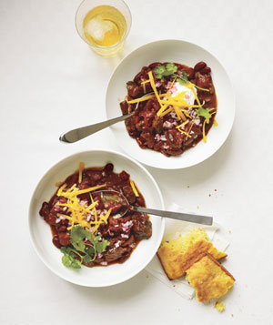 Slow-Cooker Smoky Beef and Bean Chili - Landscape