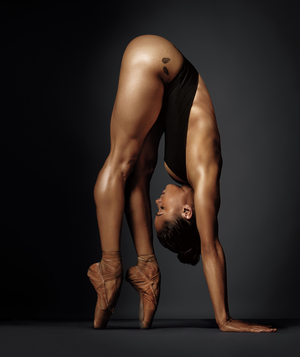 Woman in ballet stretch