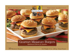 The Perfect Bite Co.'s Applewood Bacon and Cheddar Gourmet Miniature Burgers