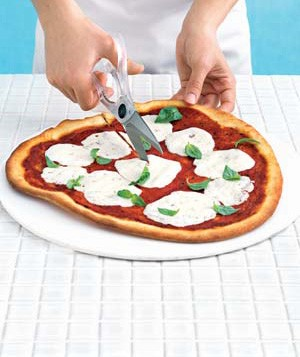 Using scissors as a pizza cutter
