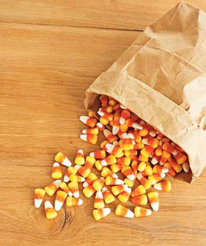 a bag of candy corn