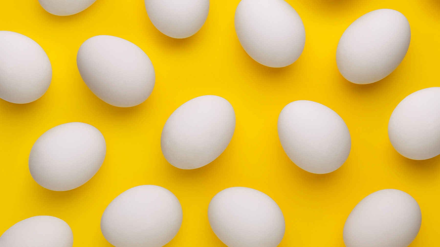 eggs on a yellow background: kitchen shortcuts