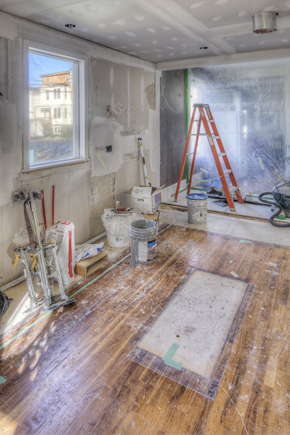 Kitchen being renovated
