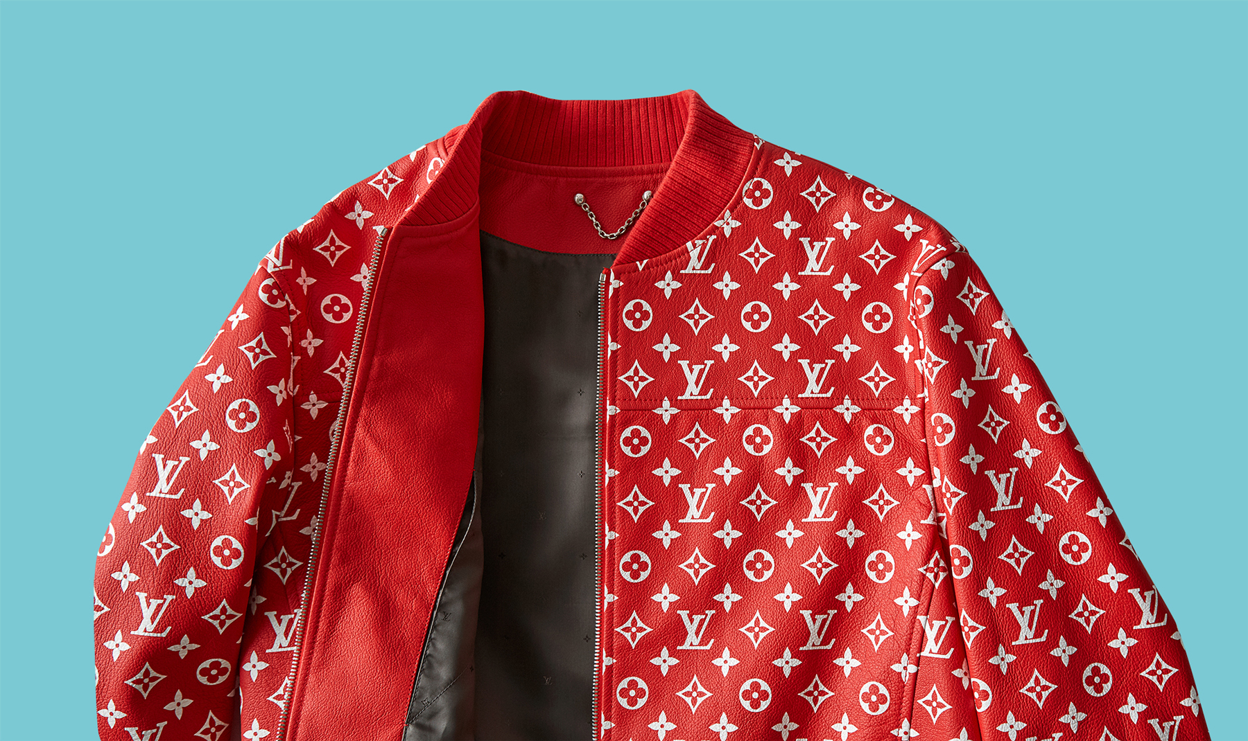 Luxury brands resale - most valuable brands; Supreme x Louis Vuitton jacket