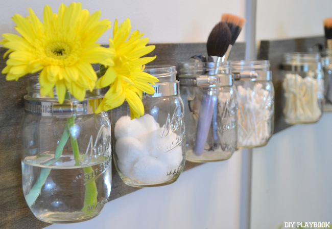 Bathroom: Mason Jar Organizer