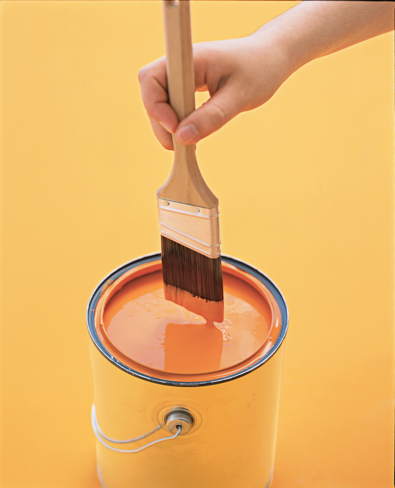 Paintbrush and can