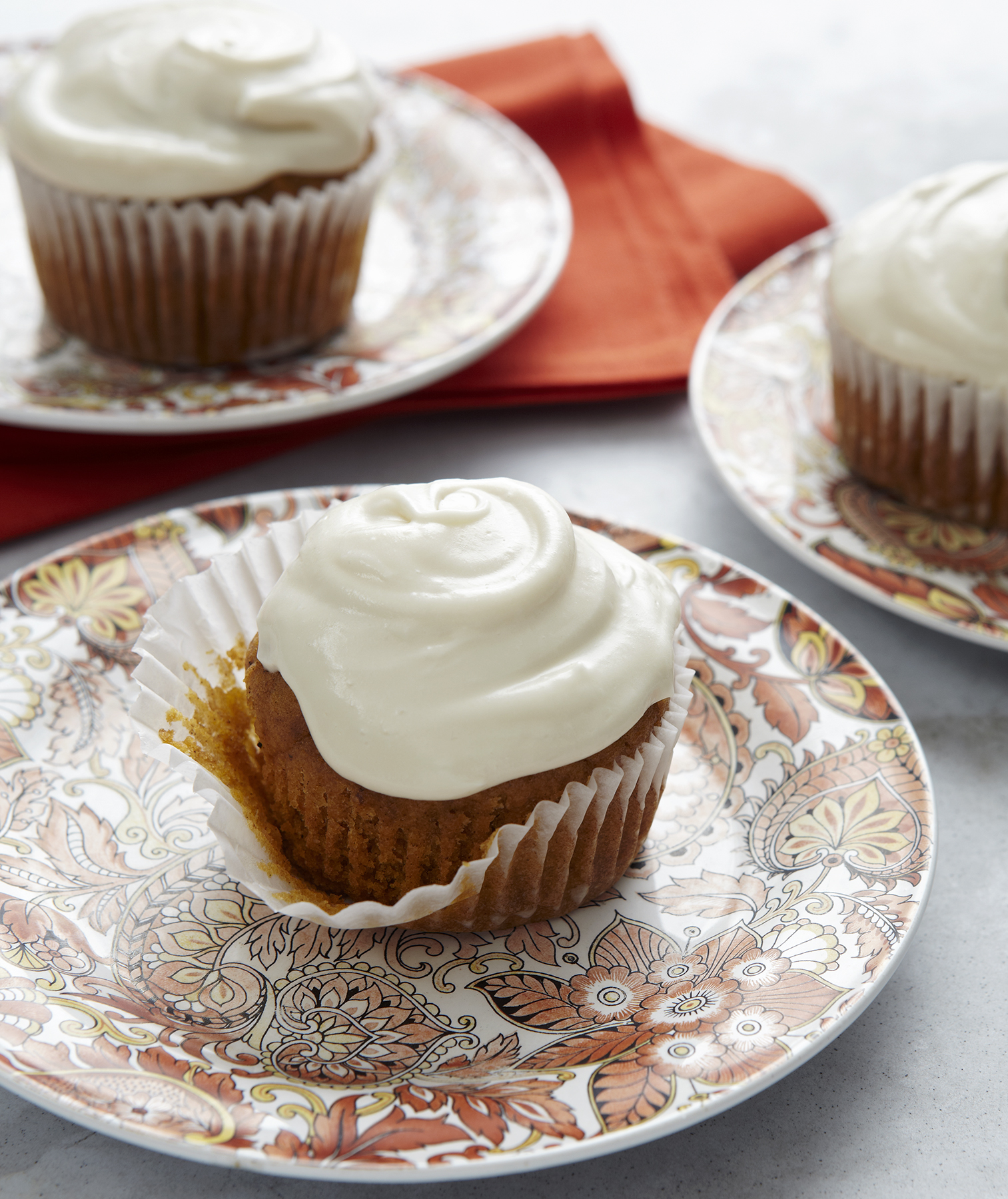 Pumpkin Cupcakes With Maple Buttercream Frosting