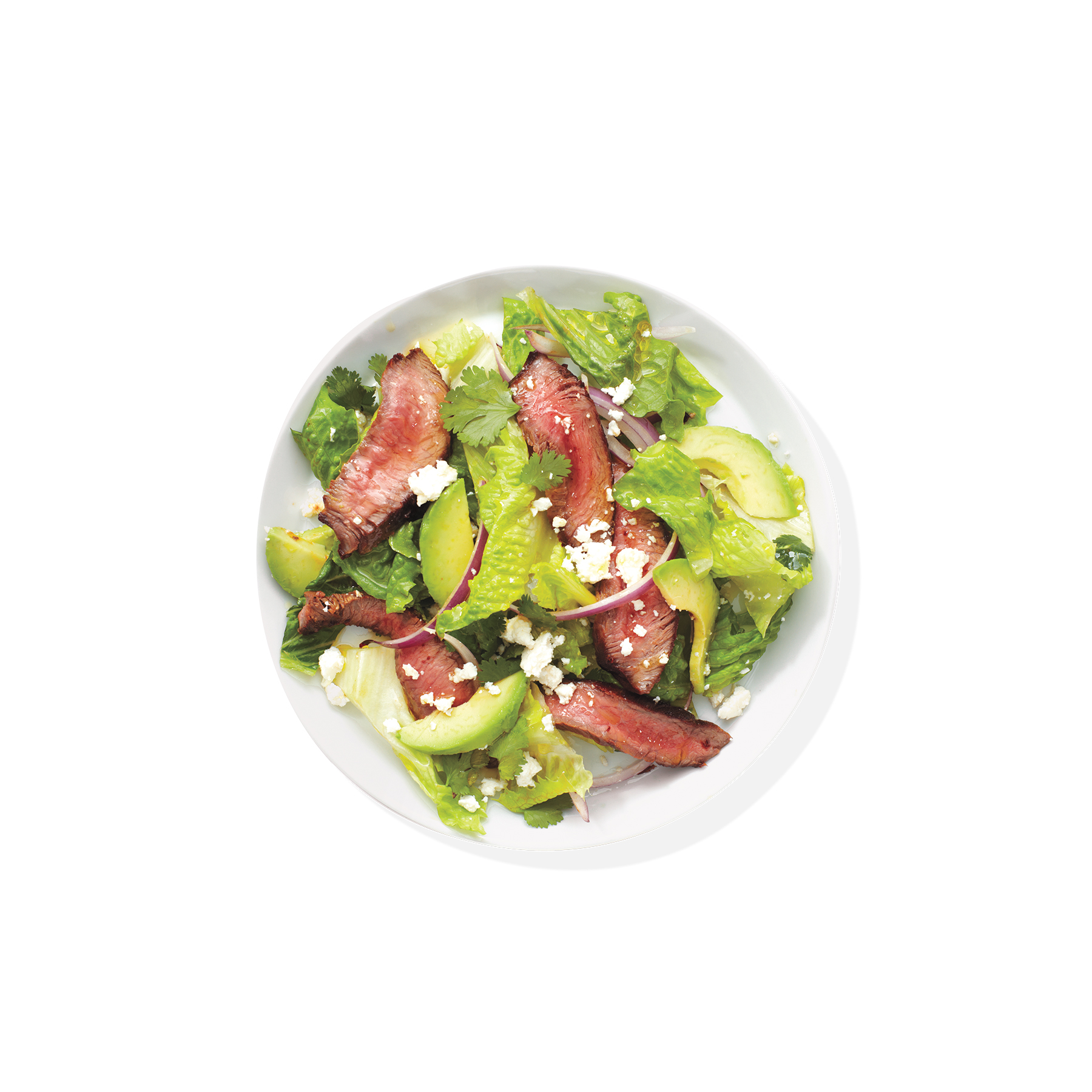 Steak Salad With Avocado and Onion